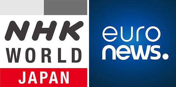 「NHK WORLD-JAPAN」ひかりTV「Euronews」